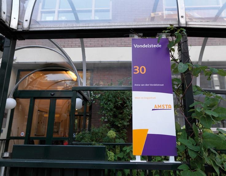 Entreebord Vondelstede, Amsta / visuele identiteit, bewegwijzering / 2008 - Ontwerp door Cascade - visuele communicatie Amsterdam