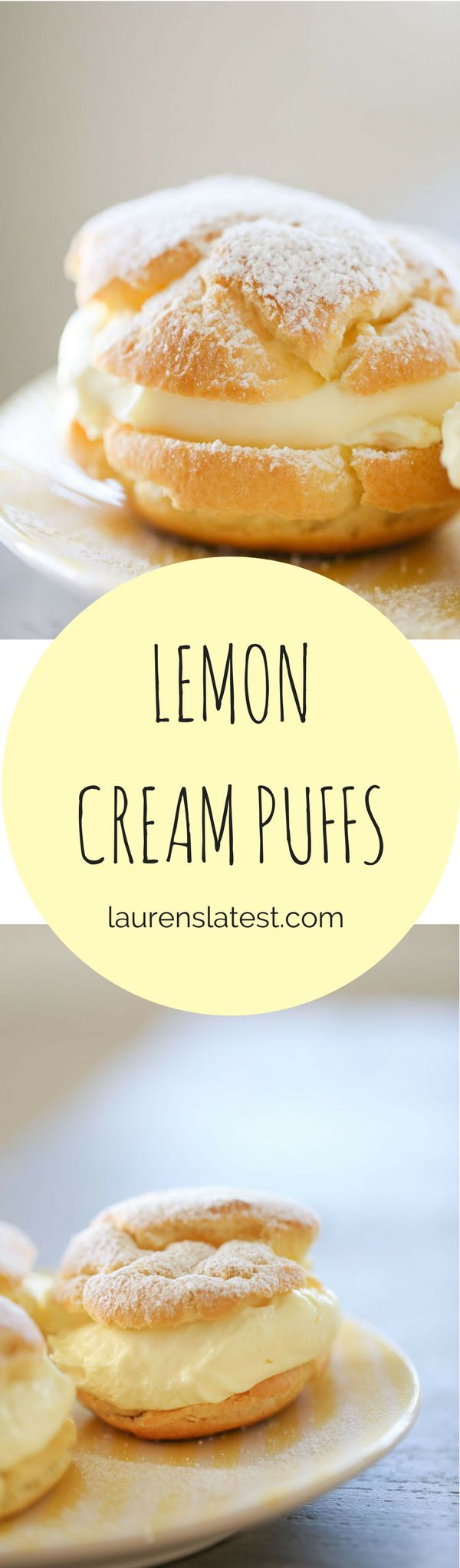 Lemon cream puffs are the zingy, summery and creamy version of the original! Filled with an easy lemon cream, these huge cream puffs are sure to make you fall in love with dessert all over again.