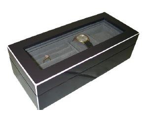 Lacquer Watch Box - Gun Metal