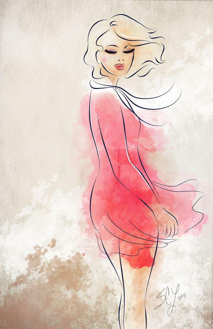 Digital art of the day! #fashion #watercolour #creative #artgallery #artist #illustrator #illustration #beautiful #pink #canadian #ottawa #ottarts #artwork #wallspace #print #design #wallspace #wallart #gallery #arts_help #instaart #woman #pose #wind #paint #digitalart #adobe #art_collective #arts_spotlight