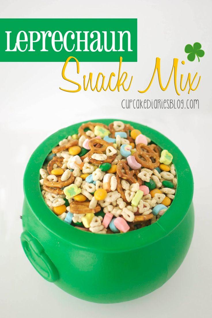 Leprechaun Snack Mix | CupcakeDiariesBlog.com