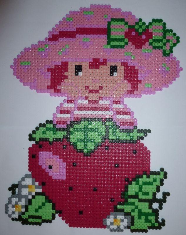 Strawberry Shortcake hama perler beads