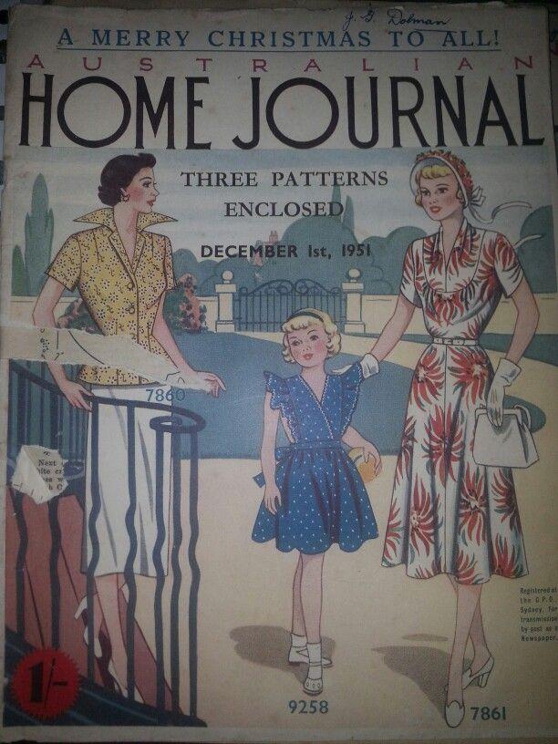 Australian home journal December 1951 cover