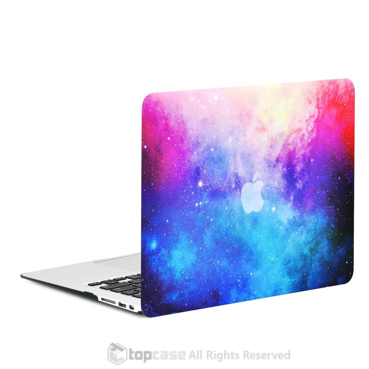 """Pink Galaxy Graphic Rubberized Hard Case for MacBook Air 13"""" Model A1369 and A1466"""