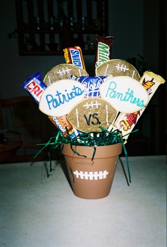 football candy bouquet - Google Search