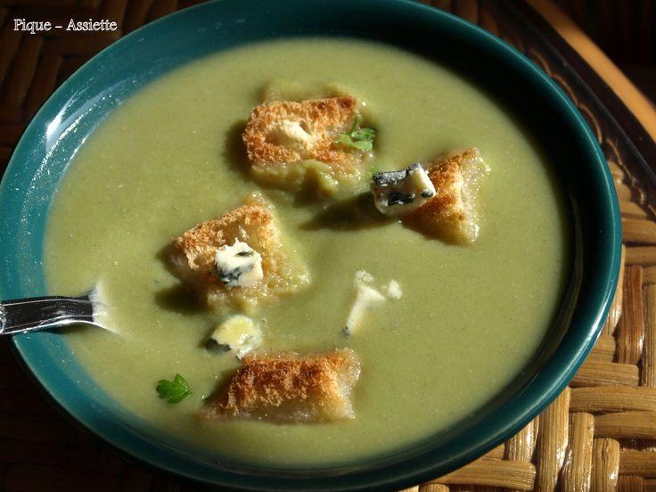 Velouté de brocolis au Roquefort. (Recettes au Companion ou pas ... )