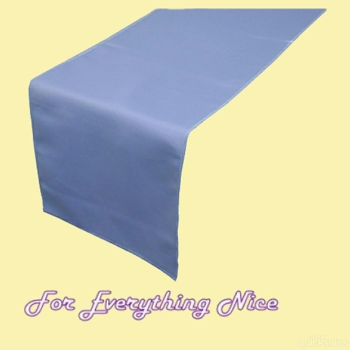 Periwinkle Blue Polyester Wedding Table Runners Decorations x 5 For Hire by J7339 - $30.00