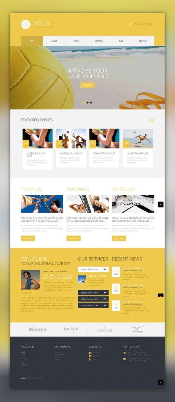 Beach Volleyball Club Wordpress Theme 49281 Professional Website Design Volleyball Wordpress Theme