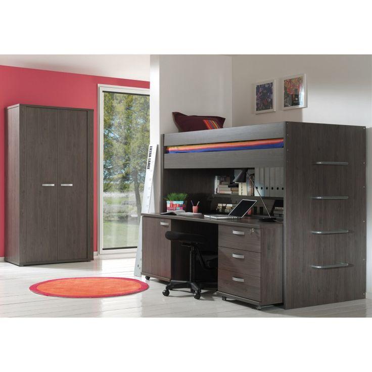 1000 ideas about lit mezzanine avec bureau on pinterest - Lit mezzanine noir avec bureau ...