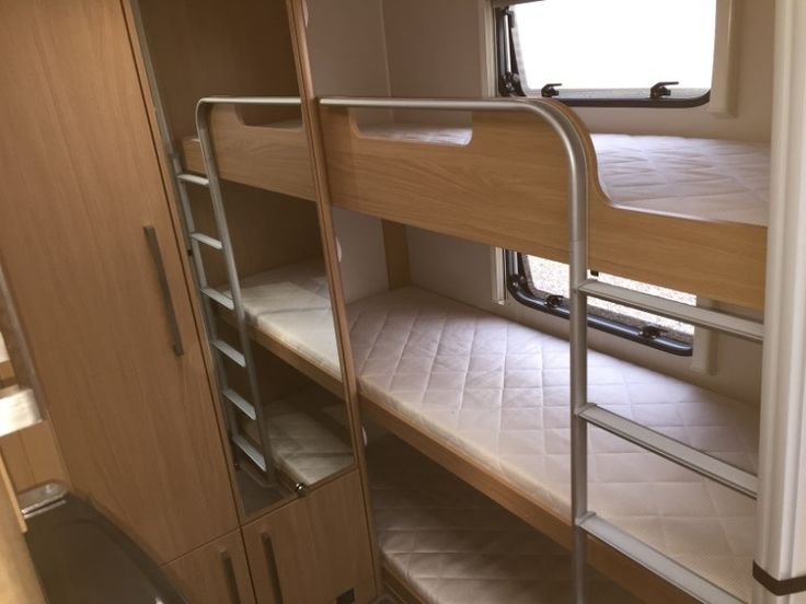 Enclosed Trailer Shelving >> caravan triple bunk - Google Search | Caravan ideas | Rv bunk beds, Bunk bed designs, Bunk beds