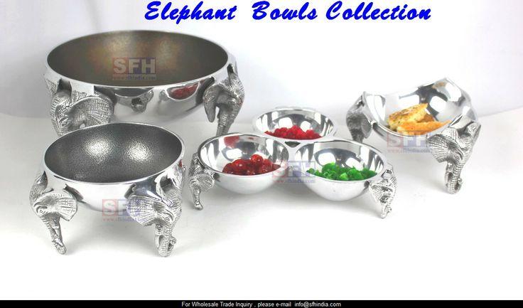 Aluminium Elephant Bowls Collection.  .http://www.sfhindia.com/story/elephantstory/index.html