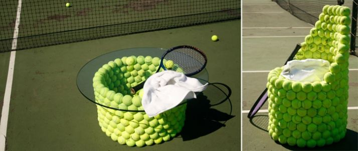 Love tennis, love these.: Ideia Interess, Notion, Crazy Tennis, Funny Friday, Ball Furniture, Tennis Court, De Tennis, Tennis Ball, Cool Furniture