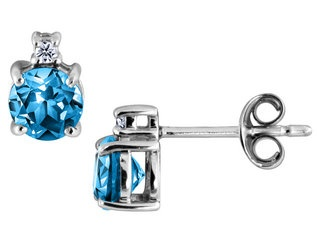Blue Diamond earings