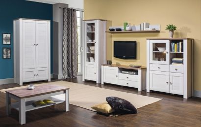 Obývacia izba - Bog Fran - Deluxe 3 S touto obývacou zostavou vo vidieckom štýle sa Váš dom premení na skutočný domov.