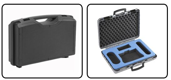 Plastic case to protect your equipment and also allow you to carry equipment around safely.