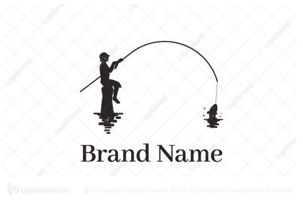 Logo for sale: Fishing Man Logo