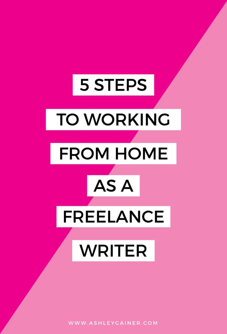 Love writing? Want to make money from home? These are the only 5 steps you need to take to work from home as a freelance writer.