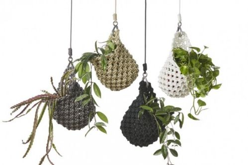 Smalltown - Knotted Plant Pod bespoke macramé pot hangings. All pieces are all hand crafted with care in Melbourne.