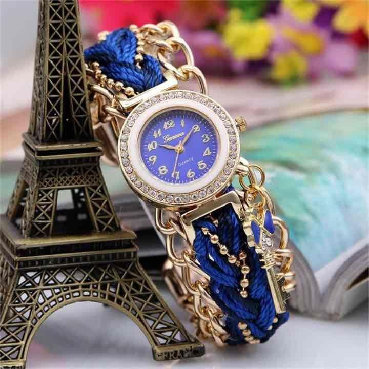 メルカリ商品: ♡Meily ミサンガウォッチ レディース腕時計  バングル おしゃれ ブルー #メルカリ
