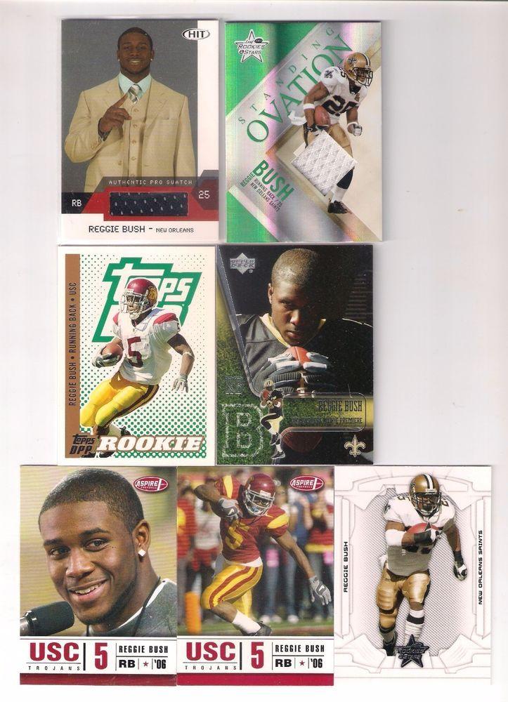 Reggie Bush Rookie and Game Worn Jersey Card lot x 7,Reggie Bush Rookie Jersey #NewOrleansSaints