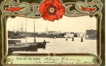 Hamnen Ystad i gamla vykort - www.123minsida.se/kjellb