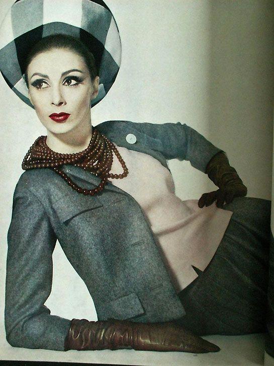 Wilhelmina Cooper. photo from vogue april 1962.