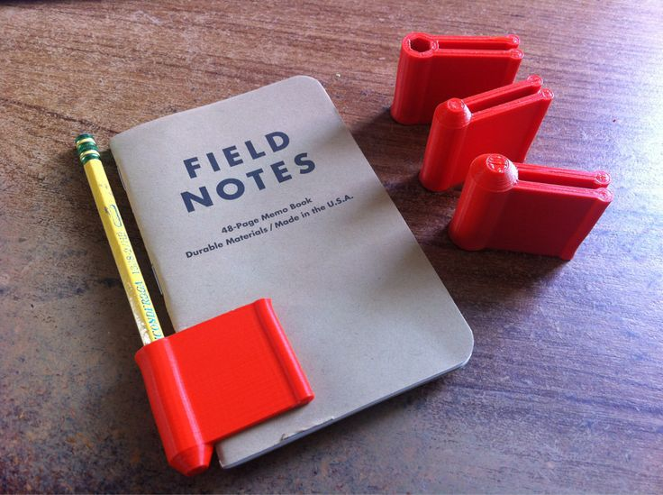 Clever home 3D printed pencil & notebook holder #3dPrintedOffice