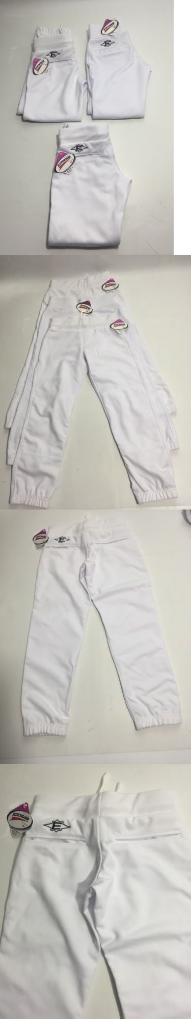 Baseball Pants 181349: Lot Of 3 Easton Girls Fastpitch Softball Pants White Youth Small Scotchgard 3M -> BUY IT NOW ONLY: $30 on eBay!