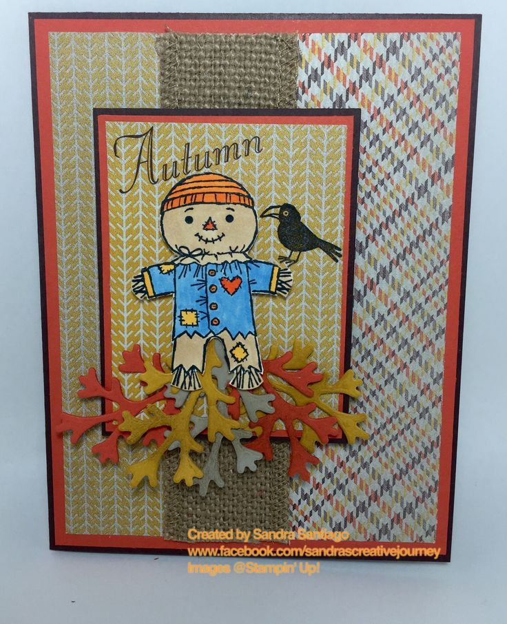 Autumn card Stampin' Up! Cookie-Cutter Halloween stamp set and Sweater Weather DSP