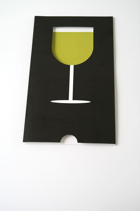 (Chartreuse goblet 1 of 3) Cool wine glass concept—would make a neat party invitation❣ S & Team - Behance