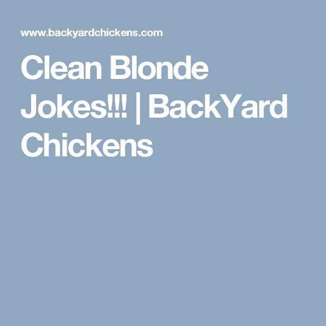Clean Blonde Jokes One Liners