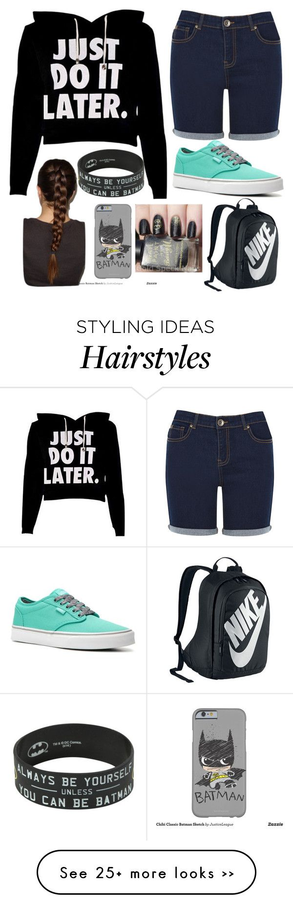 """Just be Batman!"" by gabby-ag on Polyvore featuring Oasis, Vans and NIKE"