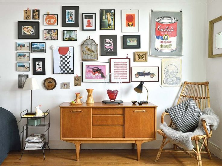 Un apartamento decorado con un encantador estilo vintage