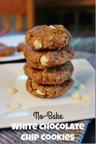 No-Bake White Chocolate Chip Cookies