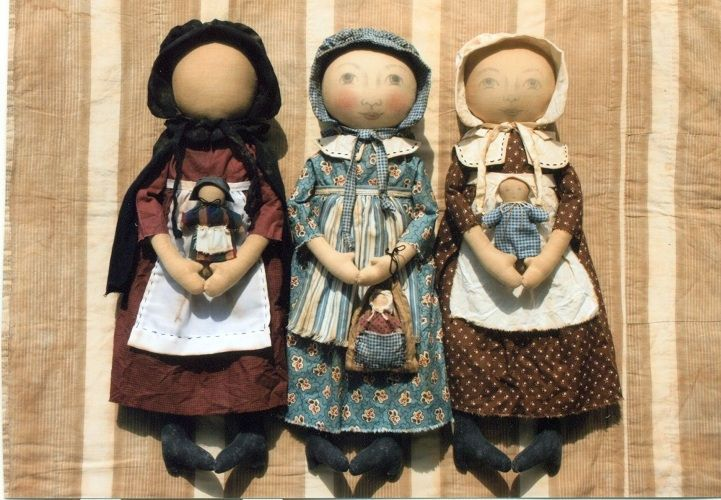 Early Style Settler Dolls Pattern