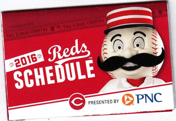 2016 Cincinnati Reds Baseball Pocket Schedule PNC Bank Free Shipping