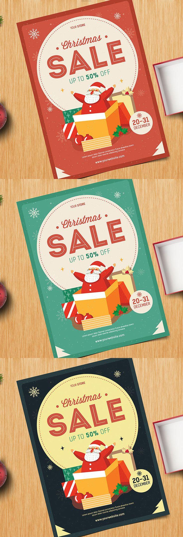 Christmas Sale Flyer Template AI, PSD