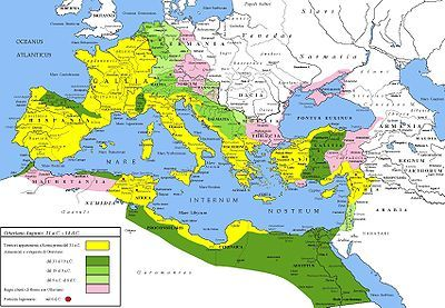 """Pax Romana (Latin for """"Roman peace"""") was the long period of relative peace and minimal expansion by military force experienced by the Roman Empire in the 1st and 2nd centuries AD. Since it was established by Caesar Augustus it is sometimes called Pax Augusta. Its span was about 207 years (27 BC to 180 AD)"""