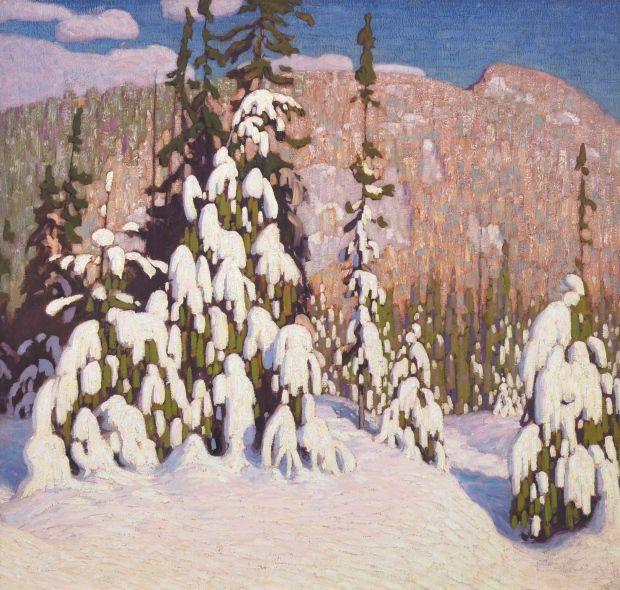 Lauren Harris- Winter Landscape, sold for a hammer price of $3.1 million-Heffel Fall Auction 20151126