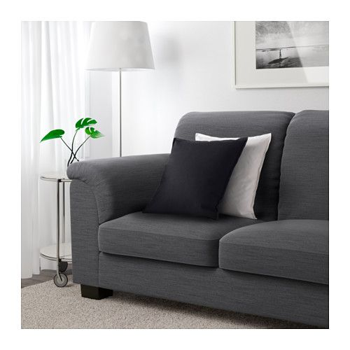TIDAFORS Sofa - Hensta gray - IKEA liked thei height and def most comfortable couch we tried at ikea