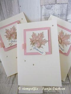 Stempelfix: Glückwunsch - Jahr voller Farben - rosa Herbst mit Stampin Up