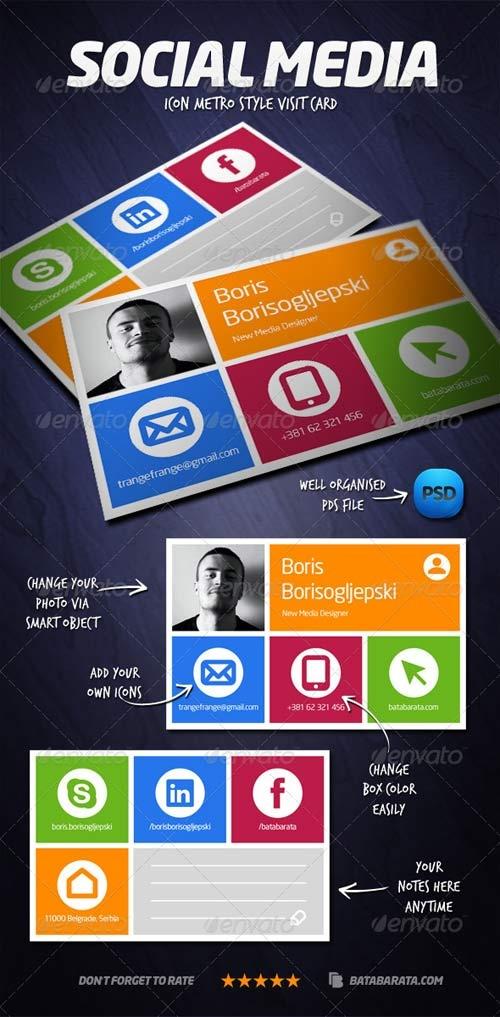 GraphicRiver Social Media Visit Card