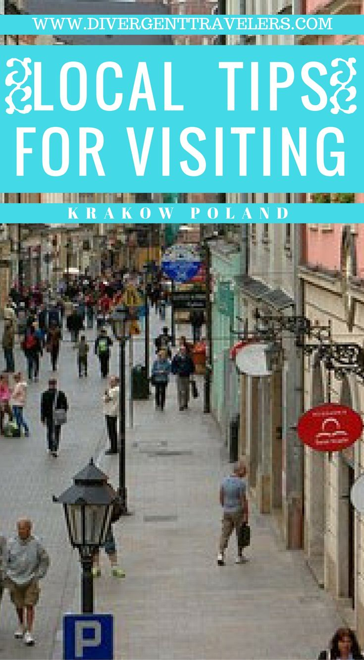 Local tips for visiting Krakow Poland. Our insiders guide was put together by a world traveler who lived in Krakow Poland for 10 years. This is one of the best guides you can find online about Krakow Poland. Click to read the full travel blog post at  https://www.divergenttravelers.com/things-to-do-in-krakow-poland/ #Poland #Guide #Krakow #Itinerary
