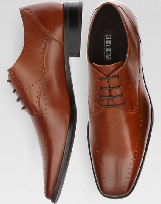 Stacy Adams Tan Bike Toe Lace Up Shoes - Dress Shoes | Men's Wearhouse