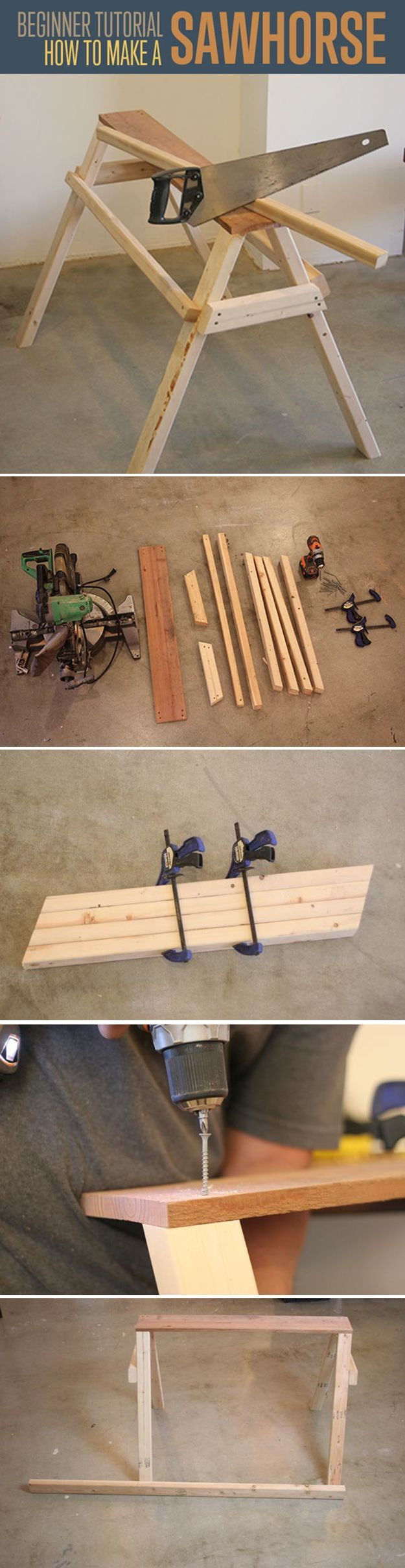 21 best images about saw horses on pinterest the family for Woodworking for beginners