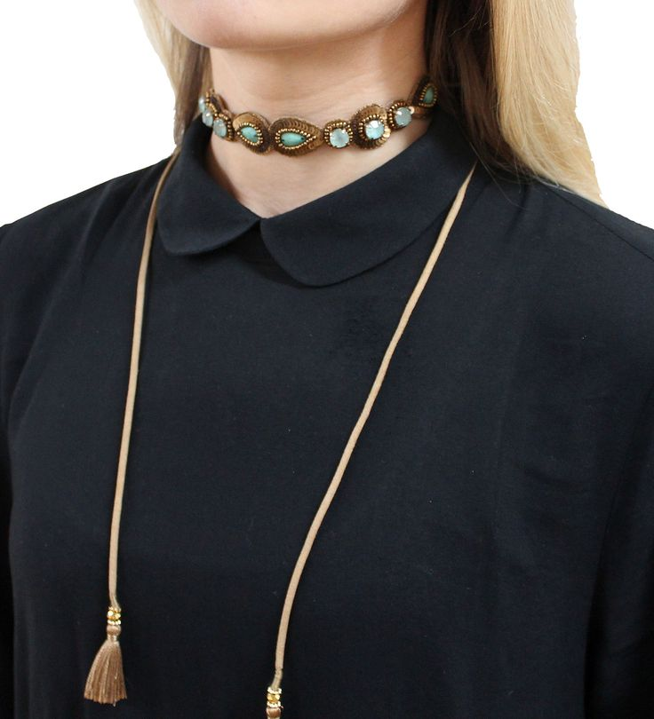 Style your tie wrap as a choker.