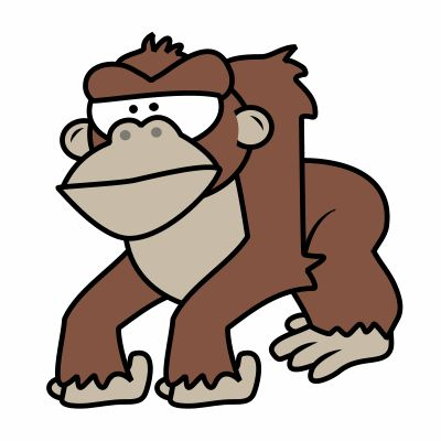 Happy Cartoon Gorilla Face 27 best images ...