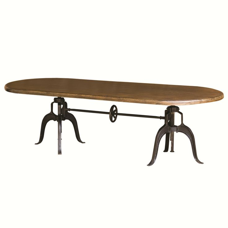 Rockwell Double Crank Oval Adjustable Height Table by Four Hands