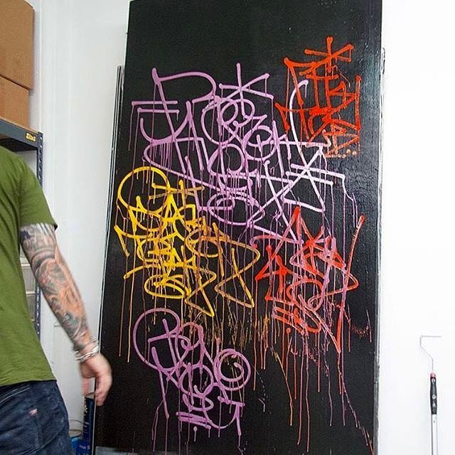 Revok (@_revok_) getting wild! via @krinknyc.  #handstyle #graffiti #revok //follow @handstyler on Instagram