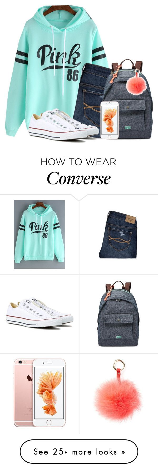 """""""Bring on s new week"""" by flroasburn on Polyvore featuring Abercrombie & Fitch, Converse, FOSSIL and RAJ"""